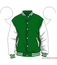 Varsity-City Jacket - Green and White