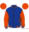 Varsity-City Jacket - Blue and Orange