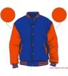 Varsity-City Jacket - Blue and Orange