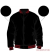Varsity-City Jacket - Black and Red Stripes