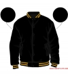 Varsity-City Jacket - Black and Yellow Stripes
