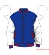 Varsity-City Jacket - Blue and White with Red