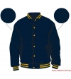 Varsity-City Jacket - Navy and Yellow