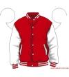 Varsity-City Jacket - Red and White