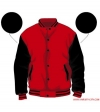 Varsity-City Jacket - Red and Black