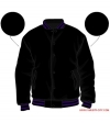 Varsity-City Jacket - Black and Purple Stripes