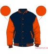 Varsity-City Jacket - Navy and Orange