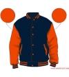 Varsity-City Jacket - Navy and Orange