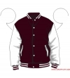 Varsity-City Jacket - Maroon and White