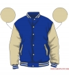 Varsity-City Jacket - Blue and Off White