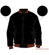 Varsity-City Jacket - Black and Orange Stripes