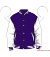 Varsity-City Jacket - Purple and White